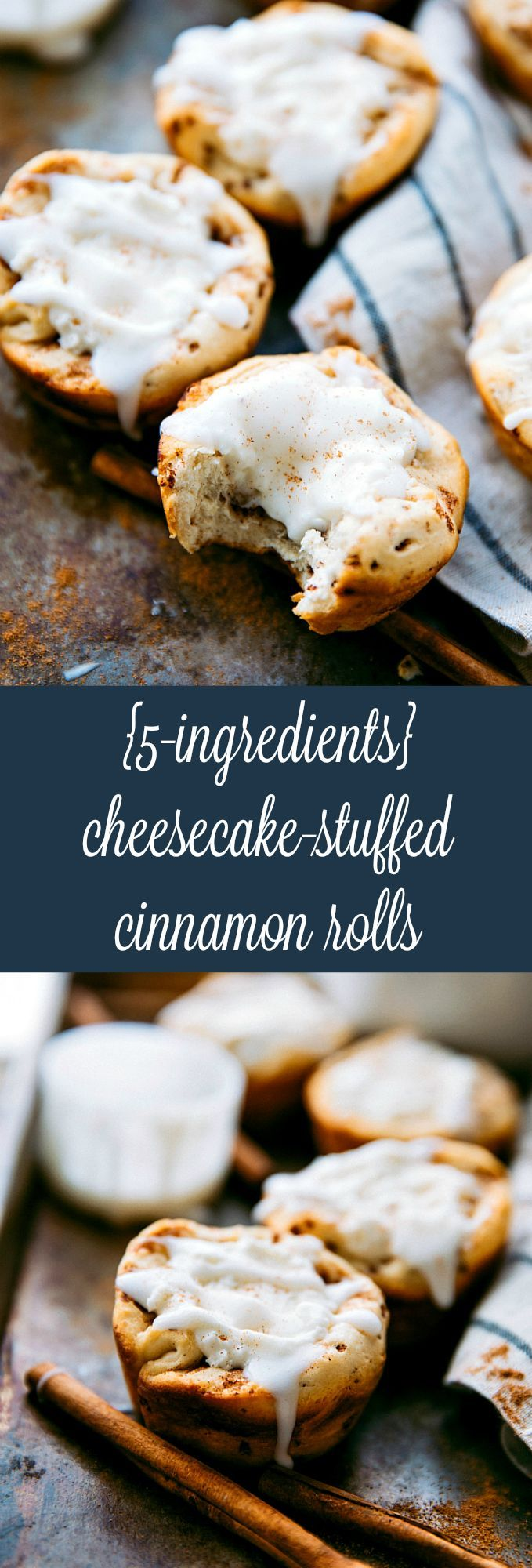 20 minutes, 5 ingredients Cheesecake Filled Cinnamon Rolls -- EASY and delicious!