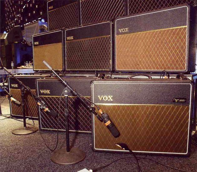 Brian May's wall of Vox AC30s