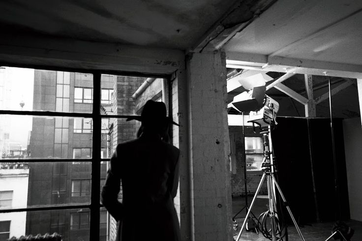 IN AN EAST LONDON LOFT.  Behind the scenes on our January lookbook shoot.