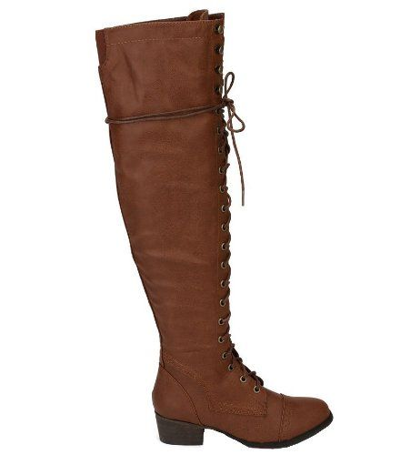 Breckelles Women's ALABAMA-12 Tall Knee High Lace Up Combat Boots Tan 6 Breckelles http://www.amazon.ca/dp/B00FZ5QOBE/ref=cm_sw_r_pi_dp_1a6mwb08J95KX