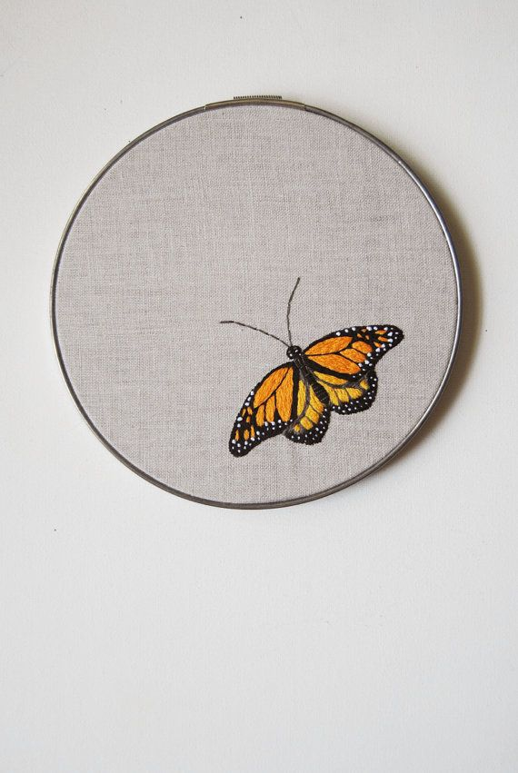 monarch butterfly embroidery