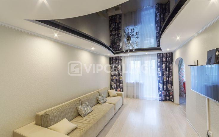 Натяжные потолки в гостиной в Самаре +7 (846) 200-00-71