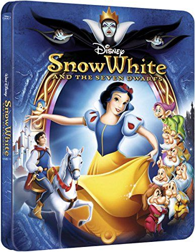 Disney Snow White and the Seven Dwarfs Zavvi Exclusive Limited Edition Embossed SteelBook Blu-ray. ( @ niftywarehouse.com #NiftyWarehouse #Disney #DisneyMovies #Animated #Film #DisneyFilms #DisneyCartoons #Kids #Cartoons