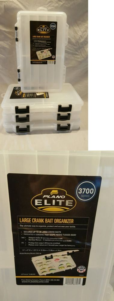 Other Fishing Equipment 27414: Set Of 4 New Plano 3707-08 Elite Large Crank Bait Fishing Tackle Organizer Box -> BUY IT NOW ONLY: $49.99 on eBay!