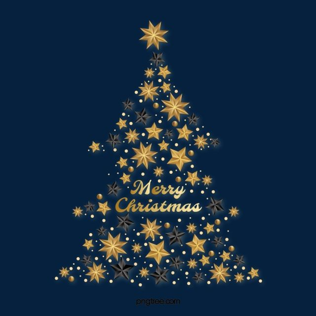 Black Gold Textured Star Christmas Tree Golden Stars Christmas Tree Png And Vector With Transparent Background For Free Download Black Gold Christmas Christmas Promotional Gold Texture