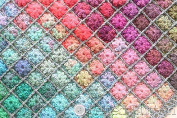 Painted Pixels Blanket Crochet Pattern ✿Teresa Restegui http://www.pinterest.com/teretegui/✿