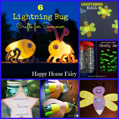 Happy Home Fairy: 6 Cute Lightning Bug Craft Ideas for Summertime!