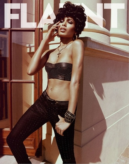 Freida Pinto rocking Parasuco on the cover of the Flaunt denim issue