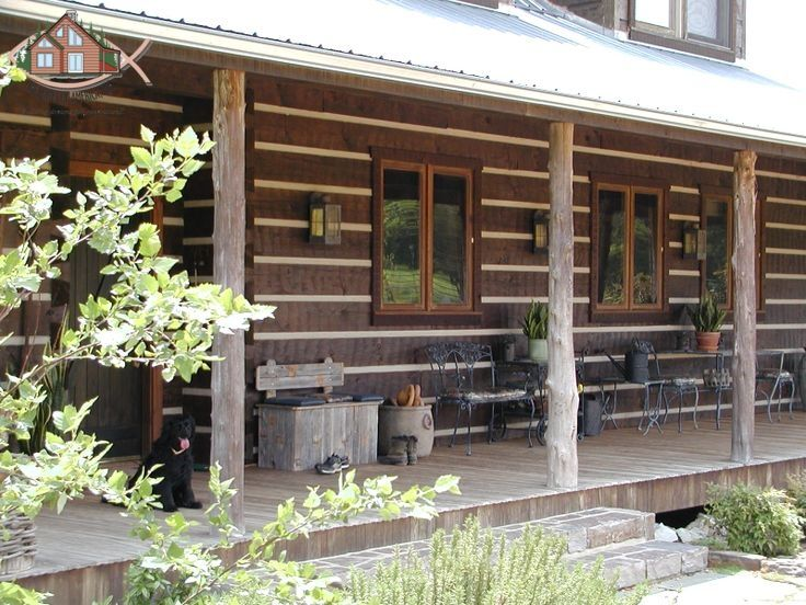 6 x12 hand hewn square logs with chinking in between for Square log home