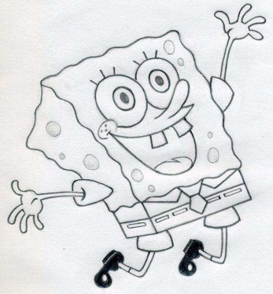 Спанч боб картинка карандашом