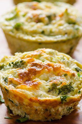 Healthy Breakfast Quinoa and Broccoli Egg Muffins