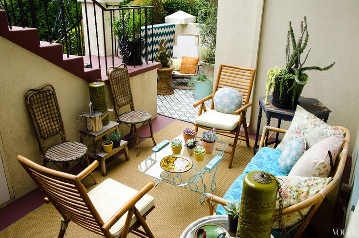 "APT with LSD: Lake Bell    ""This patio is in a constant identity crisis, and I love it for that. The majority of these pieces are reinvented street finds and hand-me-downs.""—Lake Bell"