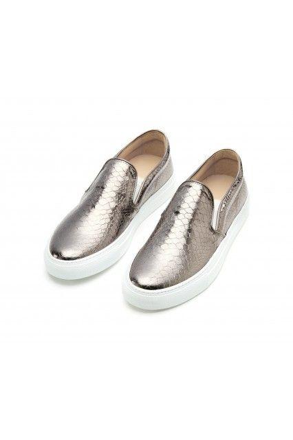 Python print fabric #sneakers by L'Autre Chose.  #lautrechose #lac #slipon #ss15 # #fashion #shoes #sporty #glam #trend