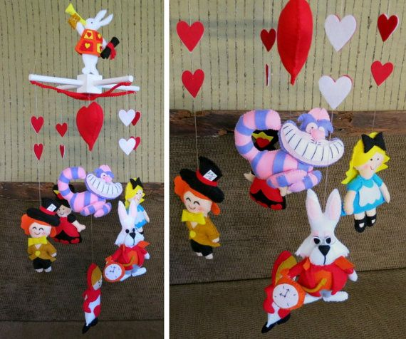 Nursery Baby Mobile Alice In Wonderland Mobile by NchantedGifts