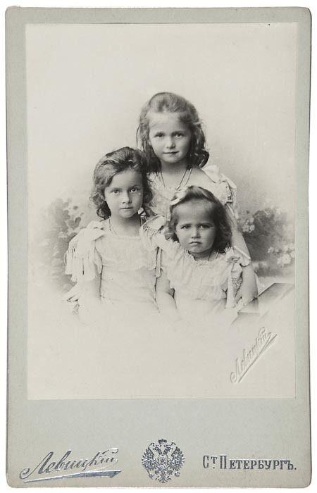 Grand Duchesses Olga, Tatiana, and Maria: 1901