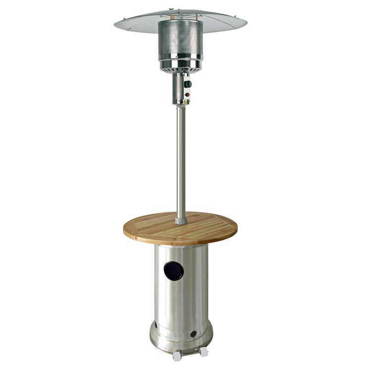 It's not a table top patio heater but it is a Patio Heater With Wood Table - 17 Best Images About Table Top Patio Heaters On Pinterest What's