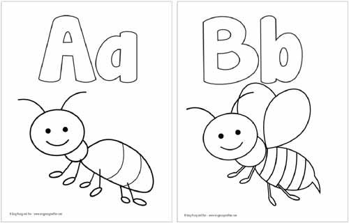 Free Printable Alphabet Coloring Pages | Letras y Abecedarios ...