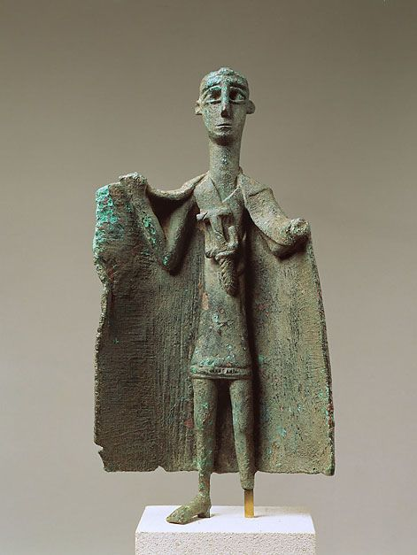 "Sardinian Nuragic Bronze ""Capotribu"" (Chief of the Herdsmen).  Nuragic civilization (1700B.C./ 200B.C)"