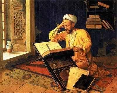 O teólogo, 1907 Osman Hamdi Bey (Turquia, 1842 — 1910) Óleo sobre tela, 90 x 113 cm Coleção Feyyaz Berker, Turquia