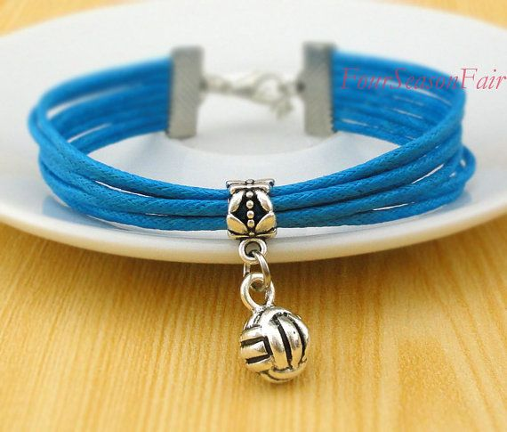 Volleyball, 3D Volleyball Charm Bracelet, Sports, Volleyball Jewelry, bridesmaid gift, Graduation gift, Friendship Christmas Gift