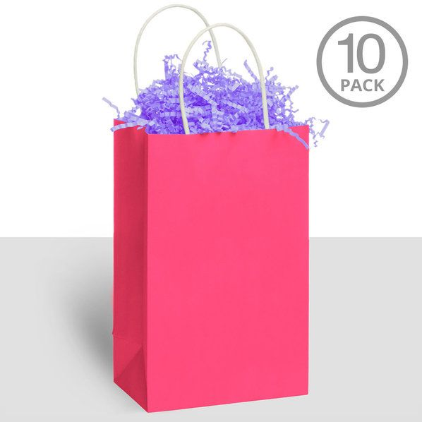 Check out Kraft Handle Bags Pink - Cheap Party Supplies and Favors from Wholesale Party Supplies