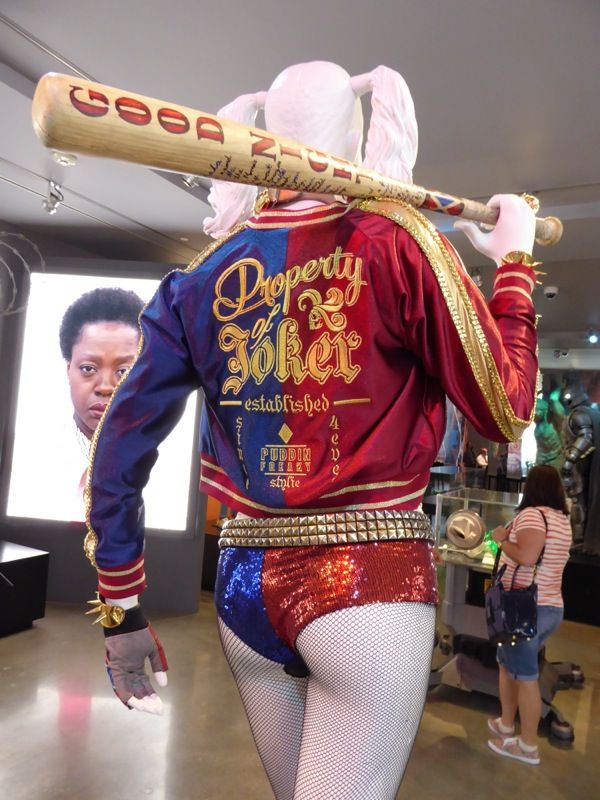 Harley Quinn costume jacket and baseball bat Suicide Squad