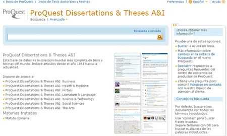 ProQuest Dissertations & Theses Global™