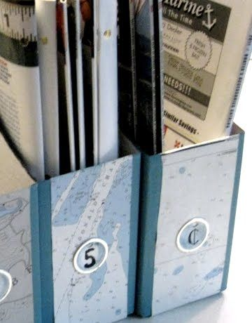 Sea Map Decoupage Ideas for Canvas, Dressers, Letters, Trays, Lampshades and more