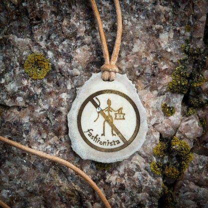 "KiviMeri ~""No fashionista allowed"" Prehistoric horn #pendant KiviMeri.com. | KiviMeri.com"
