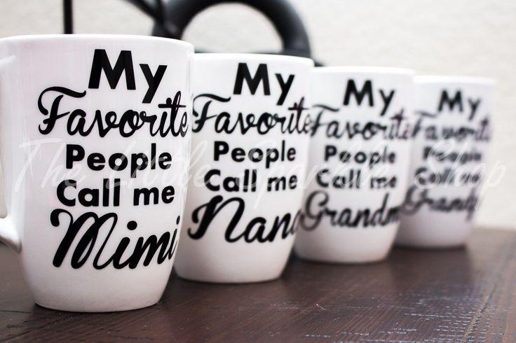 Grandparent mug, Parent mug, Mimi, Yaya, Nana, Papa, Gigi, Nona, papa, Grandpa, Opa by TheLittleSparkleShop on Etsy https://www.etsy.com/listing/216397922/grandparent-mug-parent-mug-mimi-yaya