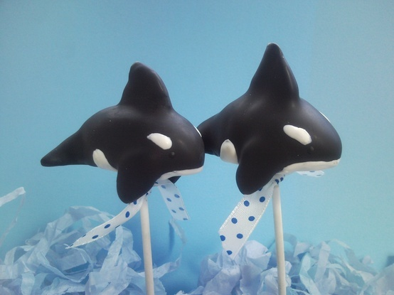 Orca Whale Cake Pops!!