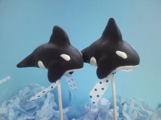 Orca Whale Cake Pops!!Cake Whales, Birthday Parties, Cakepops Truffels, Pop Ideas, Cake Pops 3, Orcas Cakepops, Whales Cake, Orcas Whales, Cakepops Cake