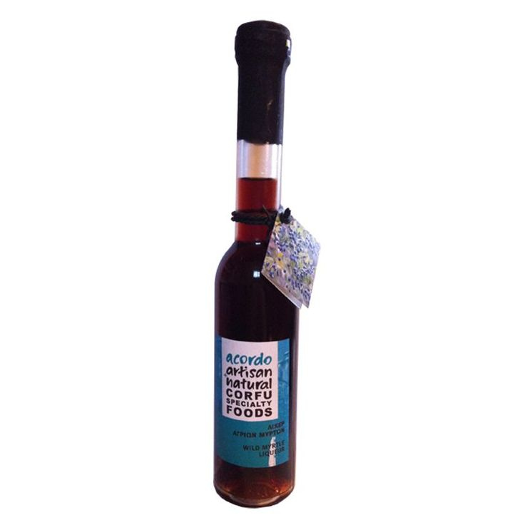 Wild Myrhle Liqueur from Corfu with a characteristic purple color. It is perfect for cocktails. Make a cocktail with iced beer and tonic, or with vodka, or enjoy it straight! http://goo.gl/fk6Xnz
