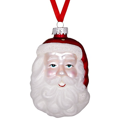 Jolly Santa glass decoration from John Lewis £4.50