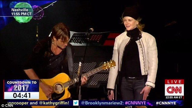 We can be heroes! Nicole Kidman danced on stage beside hubby Keith Urban as he performed an amazing New Year's tribute to 2016's fallen greats