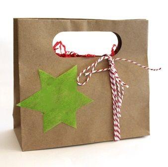 Natural Christmas Gift Bags