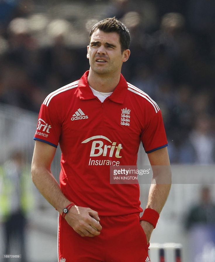 England's James Anderson prepares to bowl during the first One Day International (ODI) cricket match between England and New Zealand at Lord's cricket ground in central London on May 31, 2013.