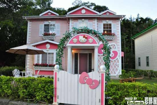 Hello Kitty theme park in Japan | Hello Kitty House For Rent in Shanghai China