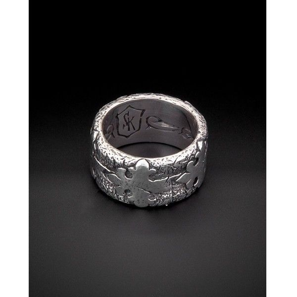Scott Kay Scott Kay Faith Silver Ring | Bluefly.Com ($73) ❤ liked on Polyvore featuring jewelry, rings, silver, scott kay jewelry, scott kay rings, silver jewellery, silver jewelry and scott kay
