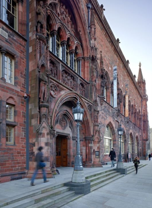 Scottish National Portrait Gallery, Queen Street, Edinburgh. ~ The museum's collection totals some 3,000 paintings and sculptures, 25,000 prints and drawings, and 38,000 photographs.
