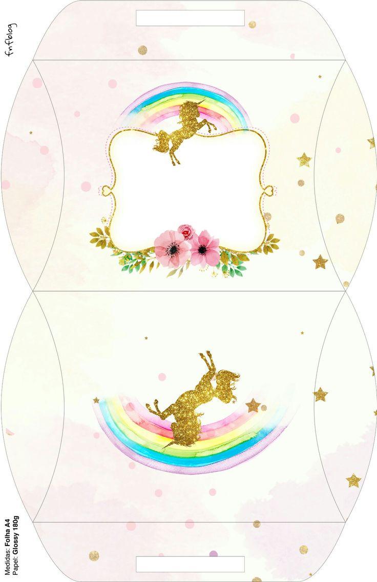 Caja almohada Unicornio