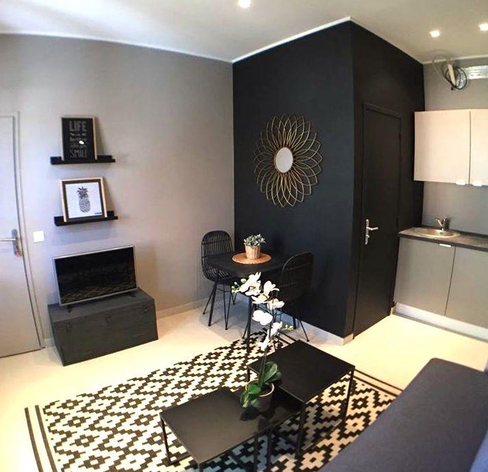 Salon Noir Et Taupe