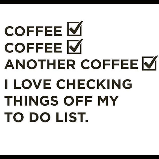 Monday to-do list: Coffee 😁☕ .  .  .  #kahvi #maanantai #uusiviikko #työ #töissä #yrittäjä #uusipäivä #kahvia #fempreneur #girlboss #coffee