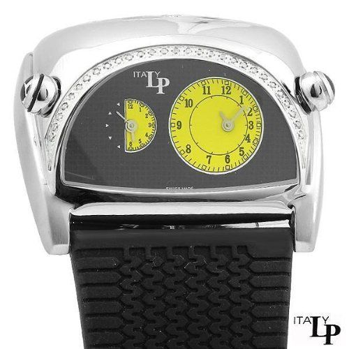 Ne Exotic LP Italy Lucien Piccard Lorenzo Pozzan Dual Time Racing Diamond Watch   Your #1 Source for Watches and Accessories