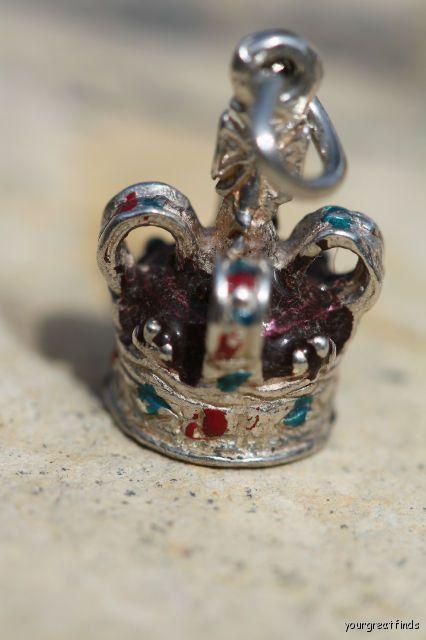 Necklaces & Pendants Vintage Sterling Silver Tiara Crown Pendant Charm
