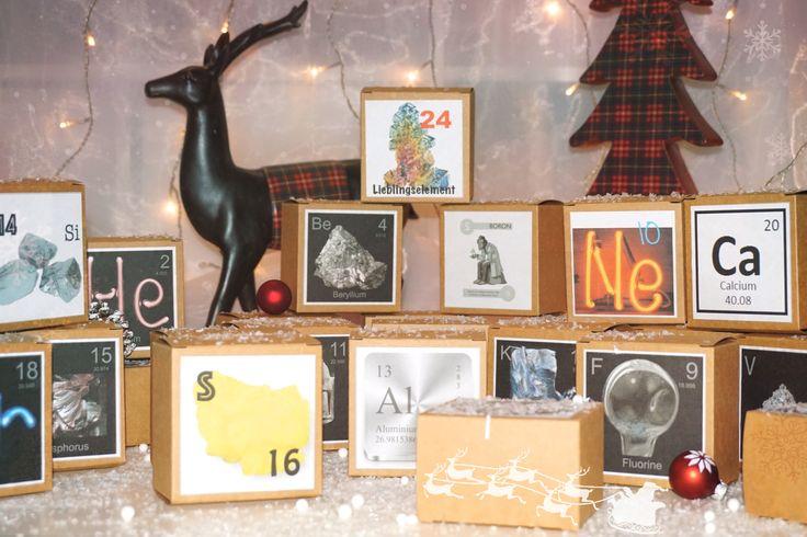 Adventskalender, Chemie, Periodensystem, Elemente, Chemieliebhaber, Weihnachten, Christmas,