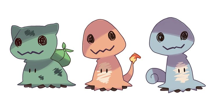 Had a think about what the new Ghost/Fairy type Mimikkyu would look like if it imitated some other Pokémon! Edit: I understand some people have reposted this without credit (or giving incorrect credit). Just for reference, I'm @finalsmashcomic on...