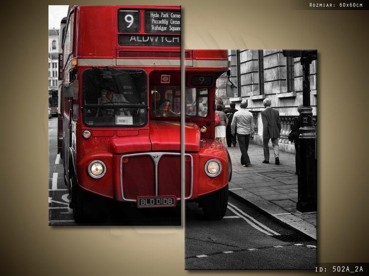 Londyński autobus 60x60cm od 1 zł BCM