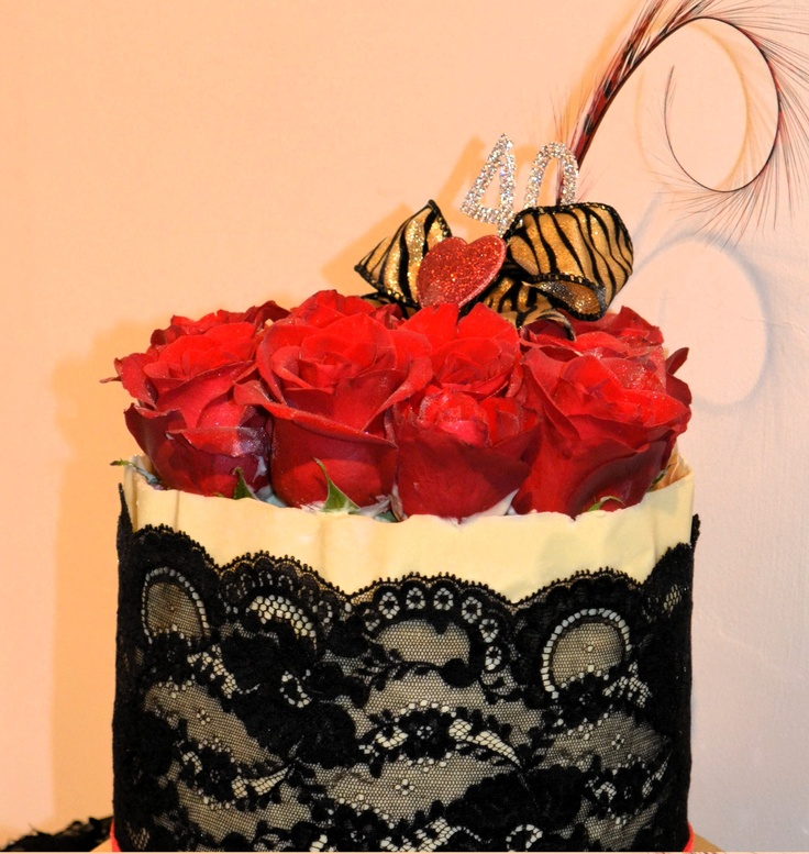 Burlesque Chocolate Collar Cake