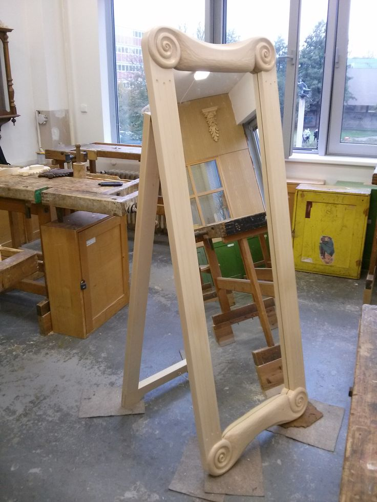 Mirror frame from basswood
